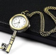 Cute Key Pocket Watch Necklace! - http://www.yeswecoupon.com/cute-key-pocket-watch-necklace/