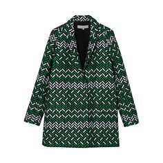 Buy Gerard Darel Albert Herringbone Coat, Green Online at johnlewis.com