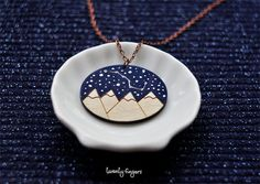 "Wood Laser cut Pendant starry sky with the constellation ""Ursa Major"" by TheTwentyFingers on Etsy"
