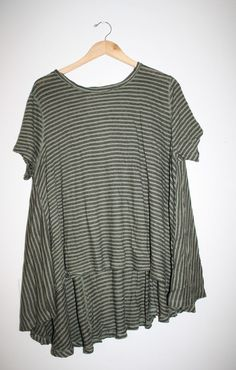 WE THE FREE FREE PEOPLE CIRCLE IN THE SAND TEE STRIPED SHIRT TOP BOHO XS / SMALL #FreePeople #BasicTee