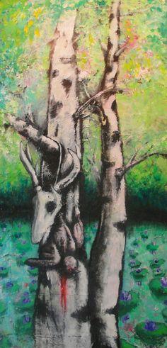 Birch VIII - Mixed Media, Canvas, 2012