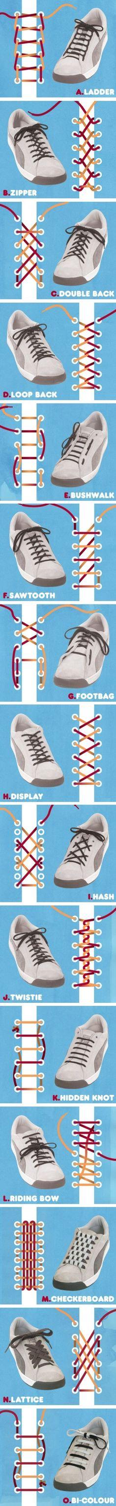 53cf1a0425 41 Shoe Lace Methods Ways To Tie Shoelaces