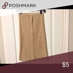 Tan Elastic Waist Knit A Line Skirt Great condition. Sold as is. More pictures available upon request. Size S Skirts A-Line or Full