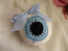 Knit Crochet, Crochet Hats, Baby Gifts, Diy And Crafts, Crochet Earrings, Knitting, Eye, Amigurumi, Knitting Hats