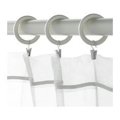 PORTION Curtain ring with clip and hook  - IKEA