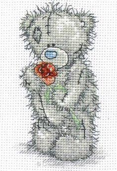 Me To You kit point de croix nounours offre une rose