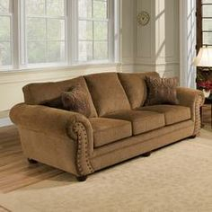 Simmons Upholstery Troy Bronze Chenille Sofa