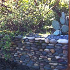 Love this rock wall.   At McMenamins Edgefield in Troutdale Oregon