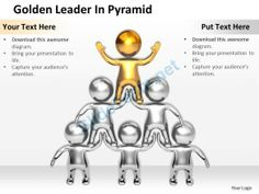 3D Golden Leader in Pyramid Ppt Graphics Icons #Powerpoint #Templates #Infographics