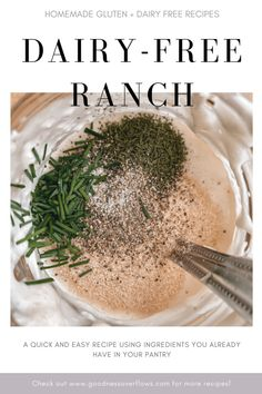 Homemade Dairy Free Ranch - Goodness Overflows
