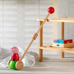 Your little one will love this personalised wooden push along featuring Peppa Pig.