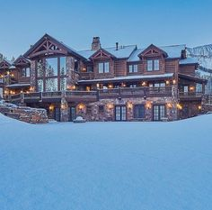 54 Stunning Dream Homes & Mega Mansions From Social Media - Home Decor Mega Mansions, Luxury Mansions, Modern Mansion, 3d Home, Log Cabin Homes, Log Cabins, Dream House Exterior, Big Houses, My Dream Home