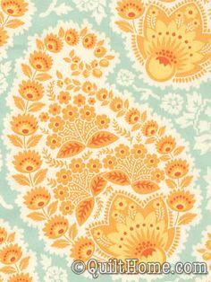 Heirloom Voile VJD04-Amber Voile Fabric by Joel Dewberry