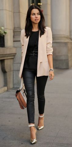 super classic blazer style - I really love this