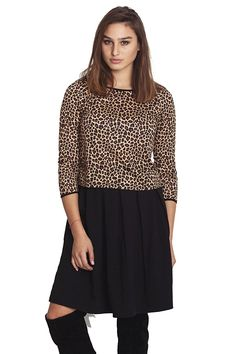Simply love Women's Long Sleeve Leo Tee at Amazon Women's Clothing store: