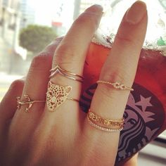 Front Knuckle rings making a trend