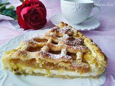 Mřížkový koláč s tvarohem a jablky - recept | Varecha.sk Apple Pie, Waffles, Treats, Food And Drink, Breakfast, Sweet, Apple Cobbler, Goodies, Candy