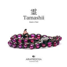 Tamashii - Bracciale Lungo Tradizionale Tibetano 2 giri Agata Rossa