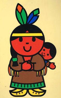 Afbeeldingsresultaat voor indiaan + bruna Easy Drawings For Kids, Miffy, Le Far West, Nativity, Westerns, Felt, Cowboys, Native Americans, Fictional Characters