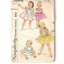 Image result for 1960's vintage formal dress patterns for children