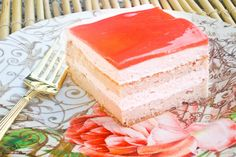 Piece of Guava chiffon cake (tutorial) - This sounds like the real deal! Deelite Bakery had the best cake Hawaiian Desserts, Hawaiian Recipes, Guava Desserts, Cake Platter, Brunch, Cake Toppings, Cake Tutorial, Let Them Eat Cake, Cake Recipes