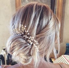Lauren Conrad's rehearsal dinner wedding hairstyle