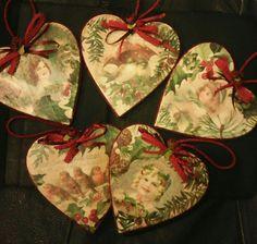 Christmas#hearts#vintage