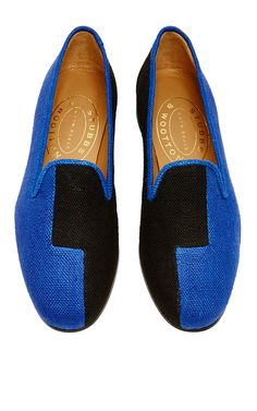 1b1637e62da Blue Black Linen Mondrian Slipper. Mens SlippersSport ...