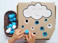 Jouets zéro déchet : des idées de bricolage en carton pour les enfants - Marie Claire Marie Claire, Craft Activities, Toddler Activities, Projects For Kids, Diy For Kids, Cubes, Create And Craft, Diy Toys, Gingerbread Cookies