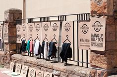 In an affluent neighborhood of South Africa, a pop-up store opened and it's for those that are homeless. Those willing to donate clothes just have to leave the items on their porch where volunteers will pick them up and bring to the pop-up location and neatly display the items, like a store. All the print materials, that both housed the clothes and announced the shop, were made re-printable, so anyone who wants to replicate the idea under the same brand can do it.