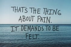 Ignore me all you want, but pain demands to be felt... Even if its just my pain.