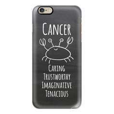 iPhone 6 Plus/6/5/5s/5c Case - Zodiac - Cancer - Chalkboard ($40) ❤ liked on Polyvore featuring accessories, tech accessories, iphone case, apple iphone cases, iphone cover case and slim iphone case