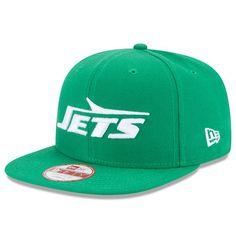 reputable site 5ea13 40351 New York Jets New Era Wordmark Historic Logo Baycik 9FIFTY Snapback  Adjustable Hat - Kelly Green