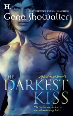Original cover for THE DARKEST KISS, a Lords of the Underworld novel.