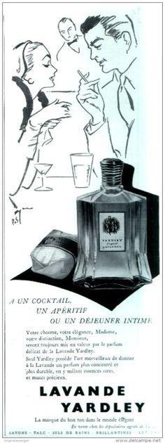 Original-Anzeige / Publicité 1955 - (en français) LAVANDE YARDLEY - ca. 100 x 260 mm