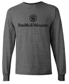 "Smith & Wesson - Men's ""Smith & Wesson"" Long-Sleeve Stacked Logo"