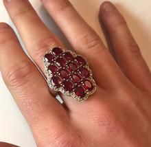 Ruby and White Zircon Ring