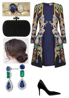 """Untitled #1892"" by thecrownoutfits ❤ liked on Polyvore featuring Mary Katrantzou, Gianvito Rossi, Bottega Veneta, Blue Nile, women's clothing, women's fashion, women, female, woman and misses"