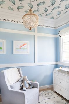 Sweet blue nursery: http://www.stylemepretty.com/living/2016/01/03/sweet-blue-san-francisco-nursery-from-homepolish/ | Photography: Homepolish