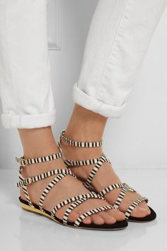 J.CREW Emmaline striped cotton-canvas sandals €255