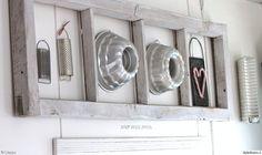 keittiö,kakkuvuoka,ikkunanpoka,vanha ikkunanpoka,ikkunanpoka seinällä,valkoinen,sydän,Tee itse - DIY,raastin,raastinrauta