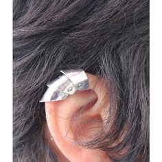 Armor Ear Cuff, Armor Jewelry, Medieval, Dragon Scale Ear Cuff, Non... (67 AUD) ❤ liked on Polyvore