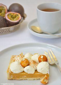 Tarte caramel des tropiques Karamell-Tarte mit Passionsfrucht Rezept