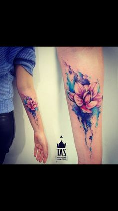 Beautiful water color tatoo