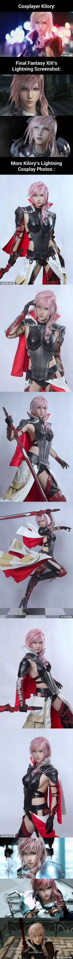 Lightning Is Real! This Final Fantasy Cosplay Looks Like A Screenshot!