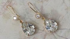 Bridal Crystal Teardrop Jewelry  Crystal by ArtistInJewelry