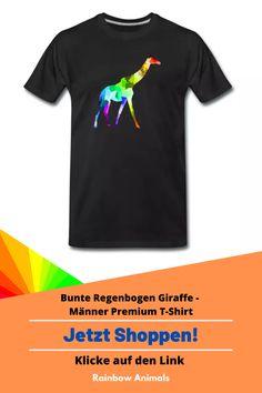 Kaufe dir jetzt diesen Premium T-Shirt für die Sommertage. Lass dir dieses und weitere Tier-Zeichnungen auf deine Herren-Mode drucken. Lasse dich inspirieren   Schau jetzt in unserem Shop vorbei! Klicke jetzt auf den Link! #T-Shirt #Herrenmode #Stile #Herrenstile #Spreadshirt #Giraffe #Rainbowanimals #Mode #Herrenoutfit #Herrenbekleidung #Modeinspiration #Inspiration