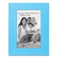 Embellish Your Story Blue Frame Magnet - NuMercy.com