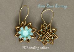 Beaded Earrings Tutorial  Beaded Earrings Pattern by SidoniasBeads