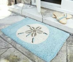 Sand dollar door mat